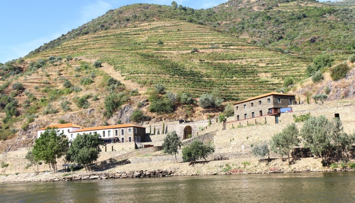 Charming farms located on the slopes of the River
