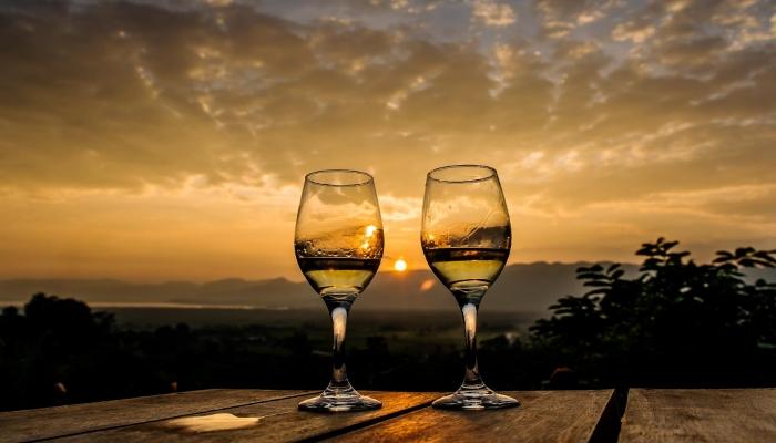 O pôr-do-sol no Douro é uma das paisagens Durienses mais românticas
